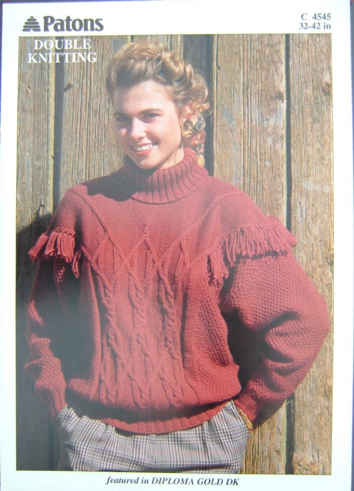 Patons Knitting Pattern 4545